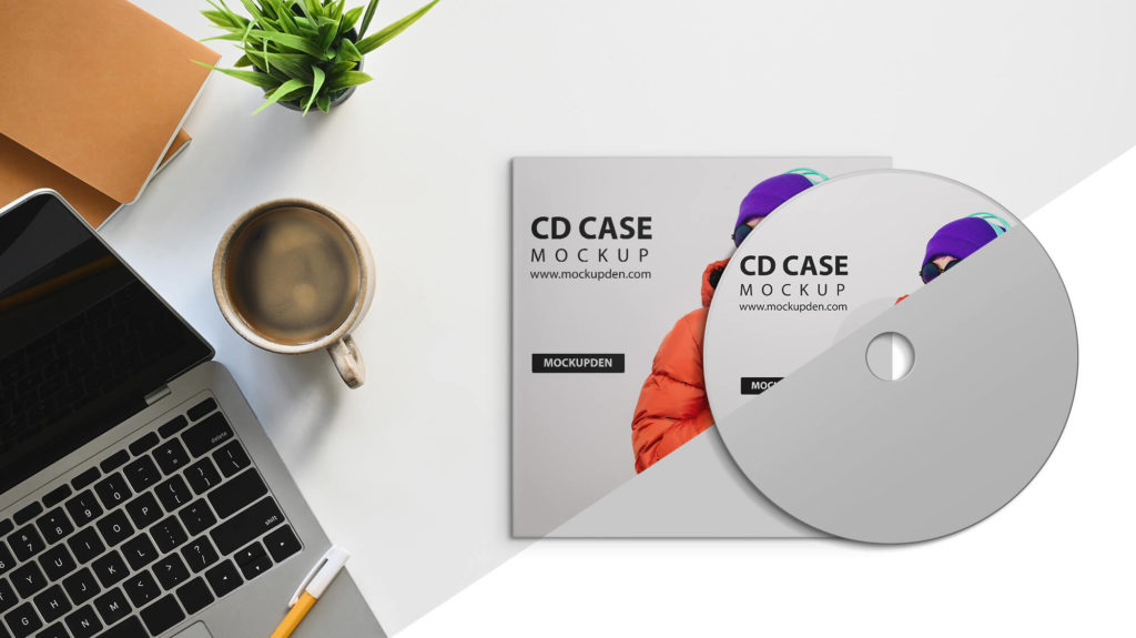 Editable Free Cd Case Mockup PSD Template