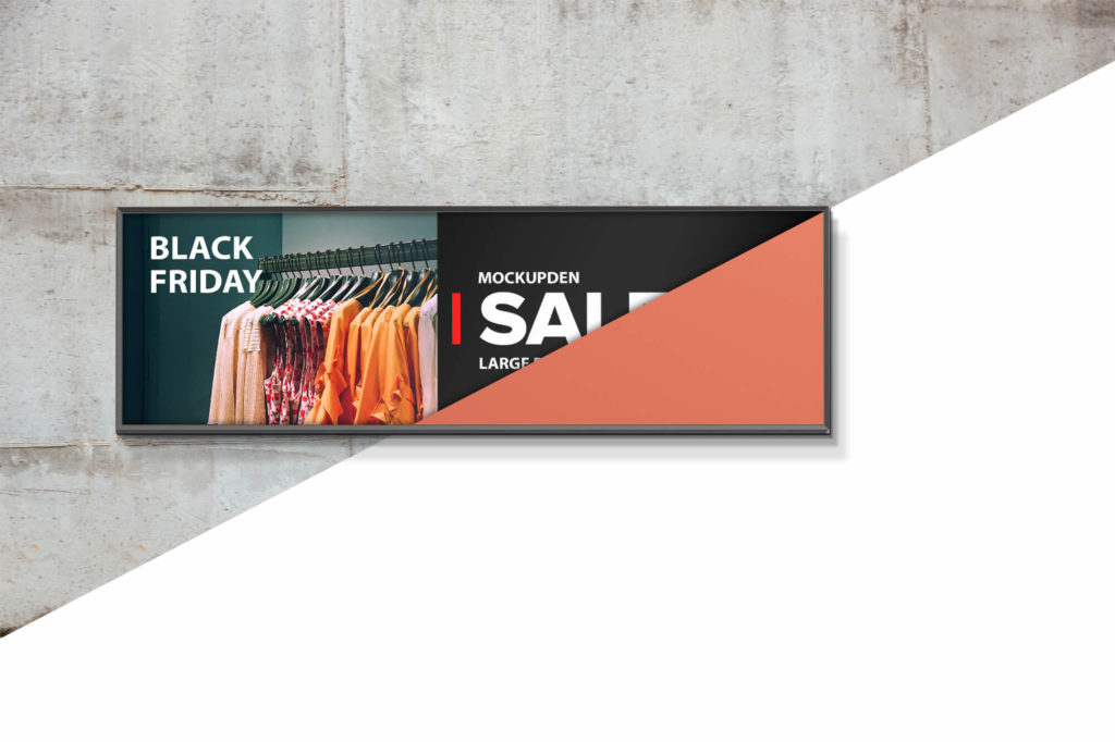 Editable Free Large Banner Mockup PSD Template