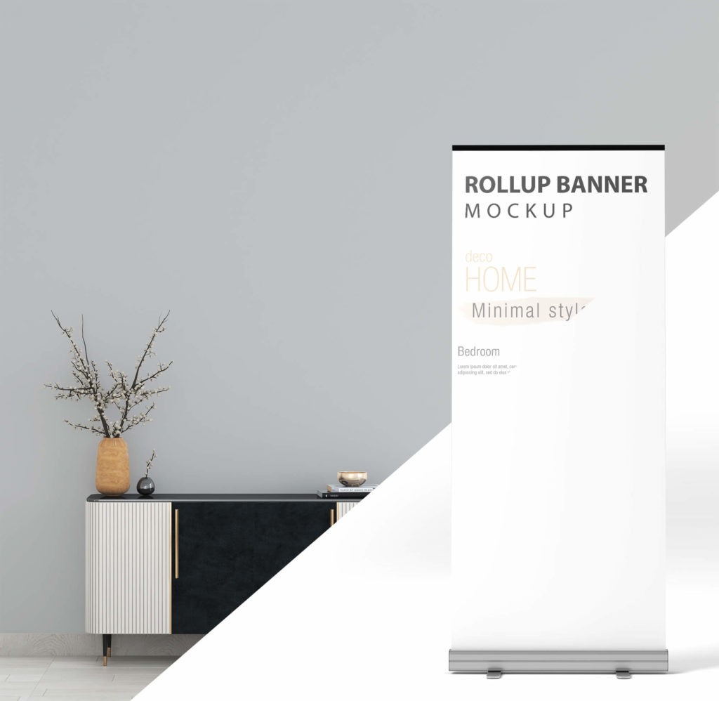 Editable Free Rollup Banner Mockup PSD Template