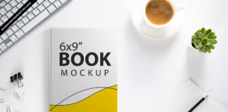 Free 6x9 Book Mockup PSD Template