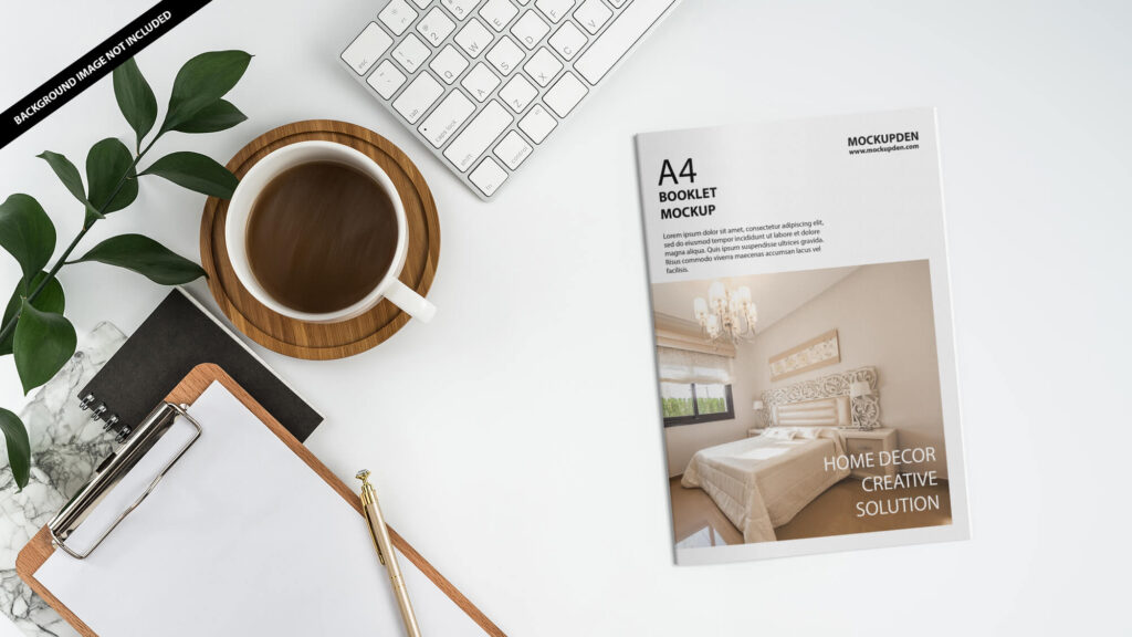 Free A4 Booklet Mockup PSD Template