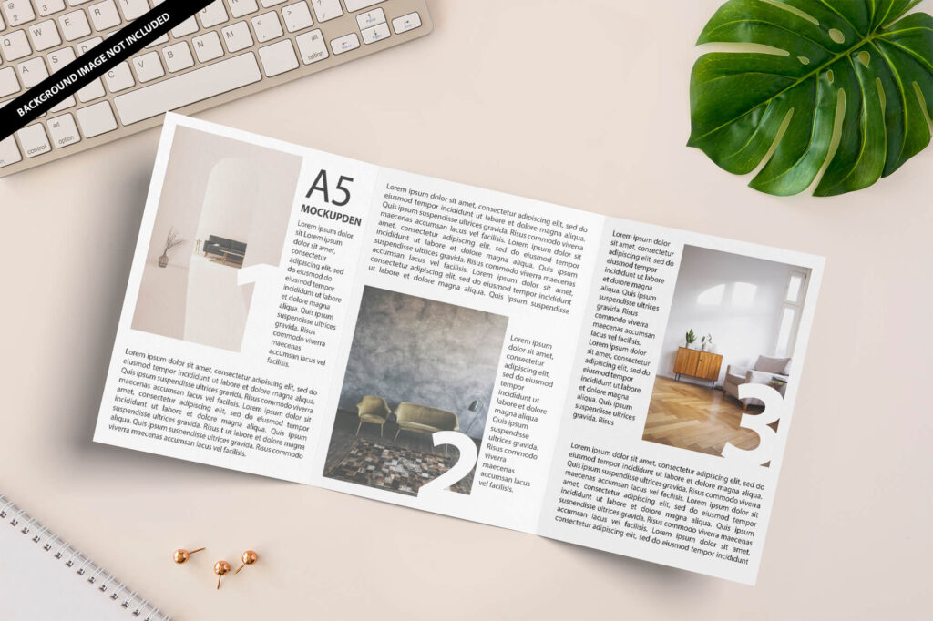 Free A5 Booklet Mockup PSD Template