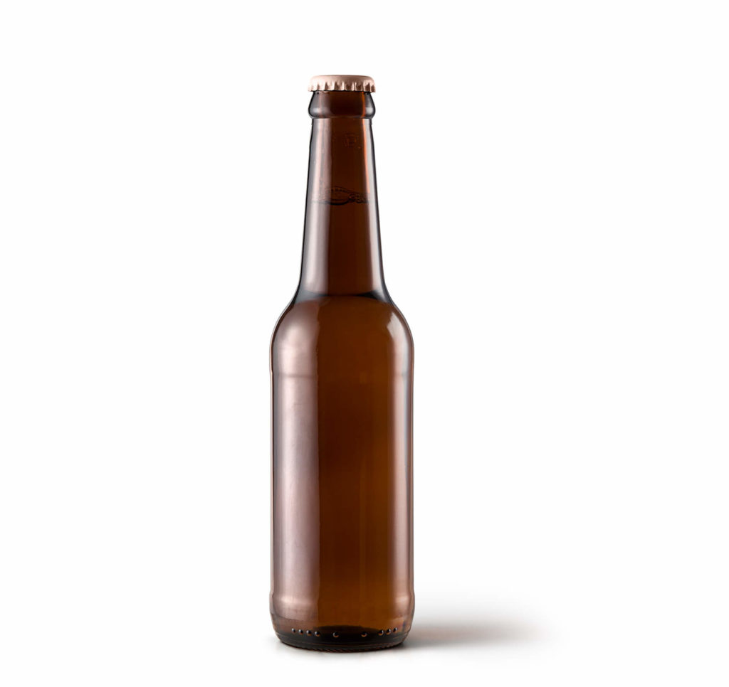 Blank Free Beer Bottle Label Mockup PSD Template