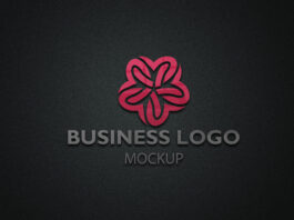 Free Business Logo mockup PSD Template