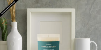 Free Candle Mockup PSD Template 2