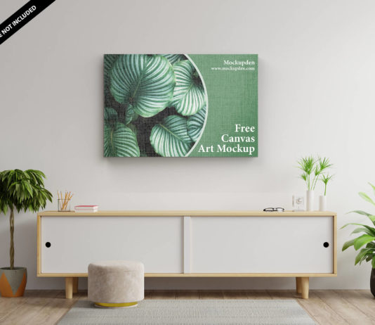 Free Canvas Art Mockup PSD Template