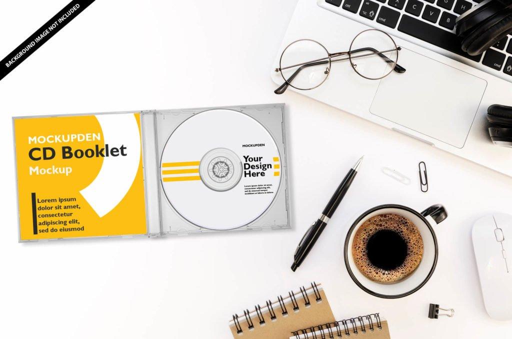 20+ Best Free Creative CD Case Mockup PSD Templates 3
