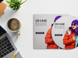 Free Cd Case Mockup PSD Template