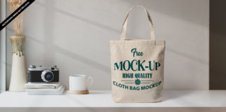 Free Cloth Bag Mockup PSD Template 2