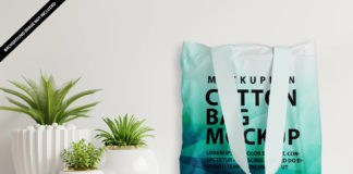 Free Cotton Bag Mockup PSD Template
