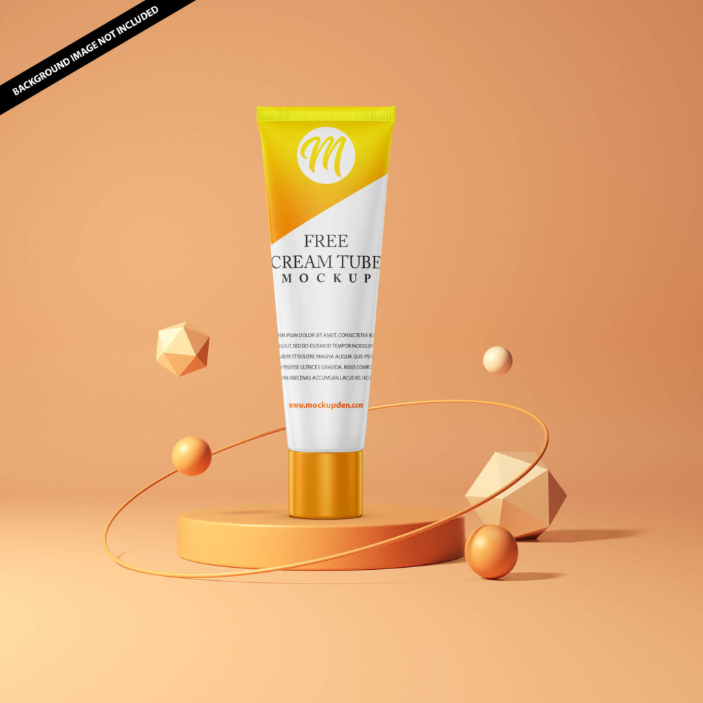 Free Cream Tube Mockup PSD Template