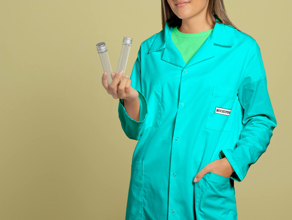 Free Lab Coat Mockup PSD Template