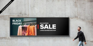 Free Large Banner Mockup PSD Template