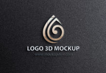 Free Logo 3D Mockup PSD Template