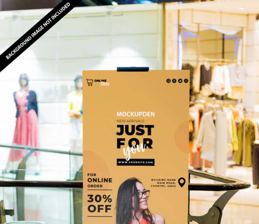 Free Mall Banner Mockup PSD Template