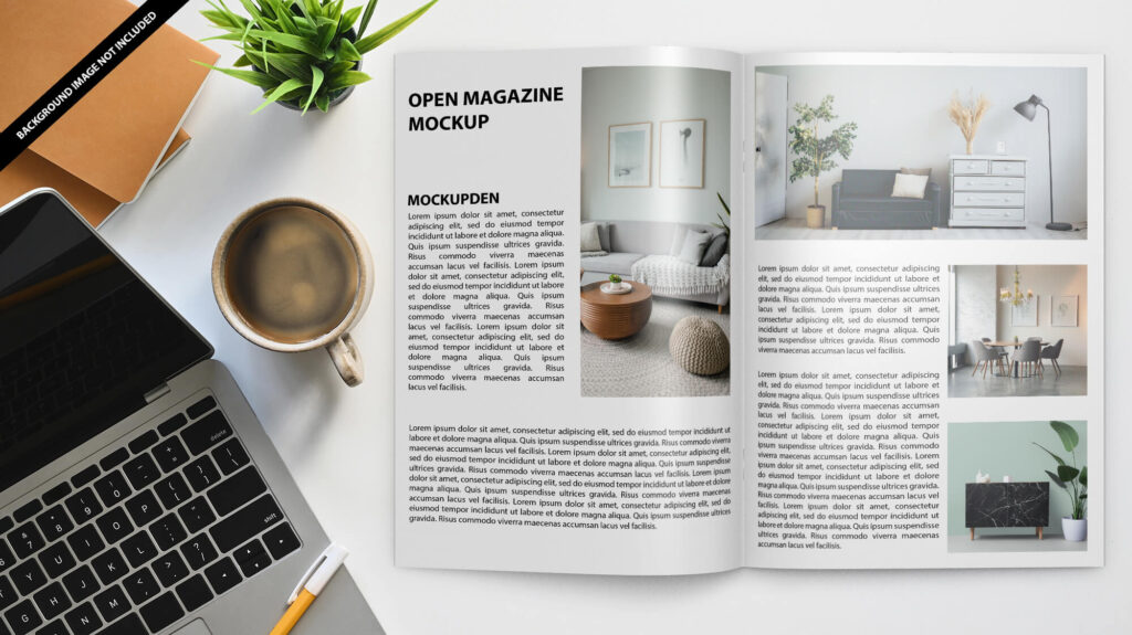 Free Open Magazine Mockup Vol 2 PSD Template