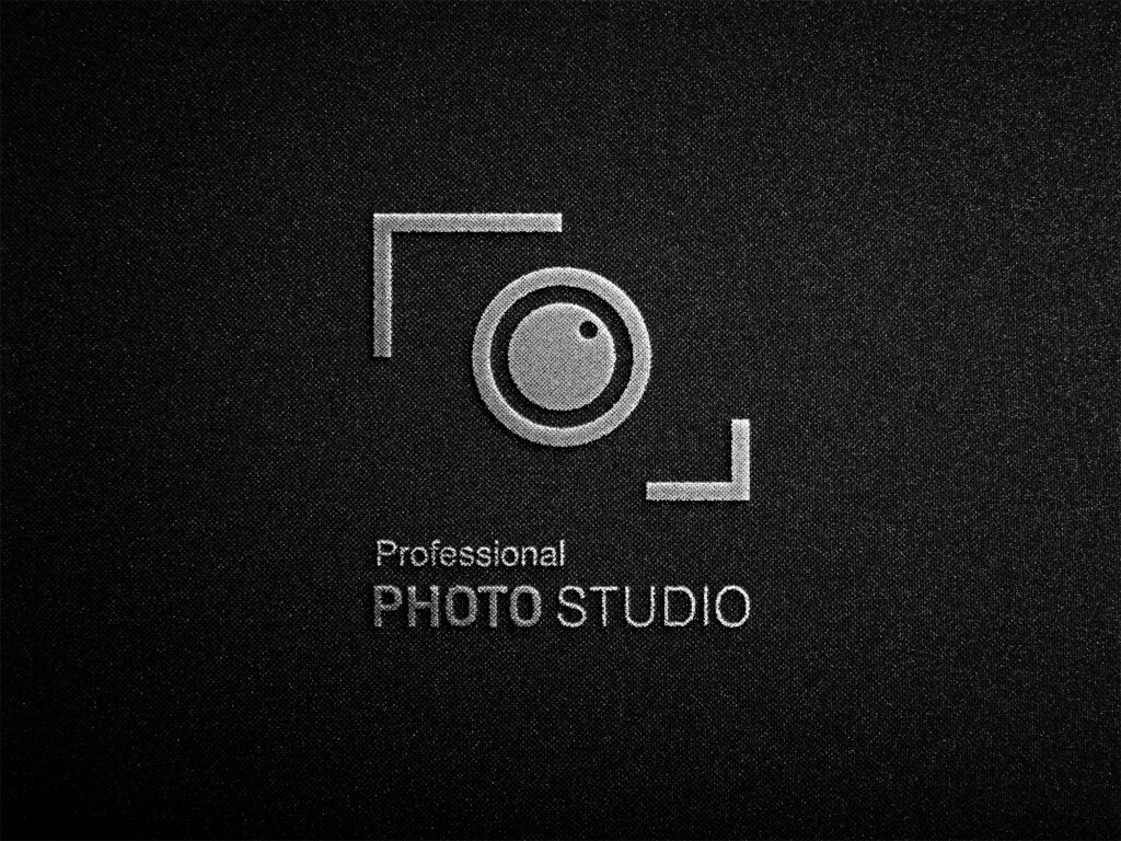 Free Photography Logo Mockup PSD Template