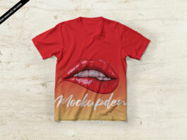 Free Red T Shirt Mockup PSD Template