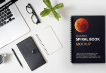 Free Spiral Book Mockup PSd Template
