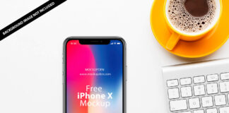 Free iPhone X Mockup PSD Template