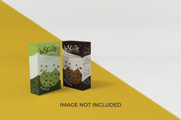 High quality snack packaging mockup design template Premium Psd