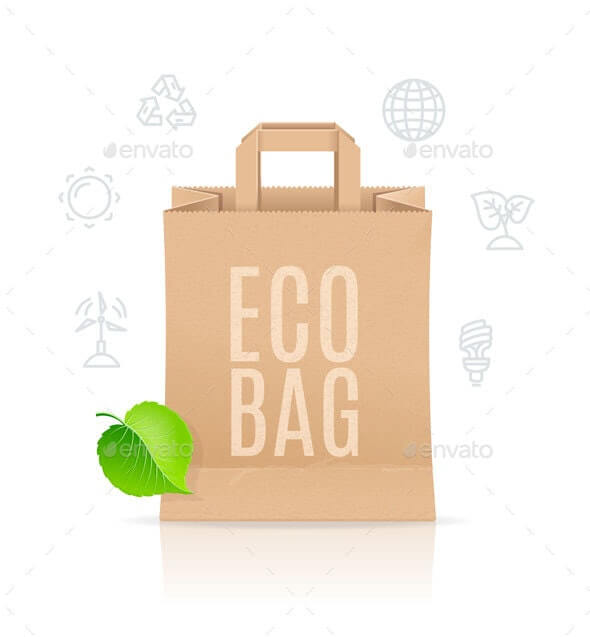 Paper Bag Eco Sale Concept