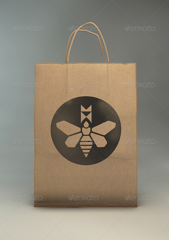 Paper Gift Bag Mock-Up | Eco Gift Bag Mockup