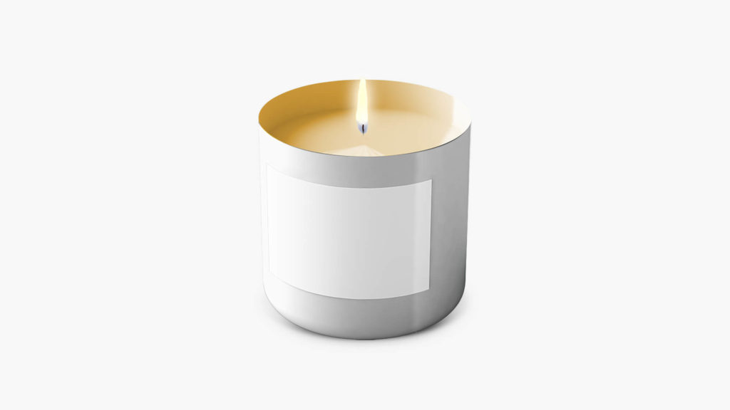 White Free Candles Mockup PSd Template