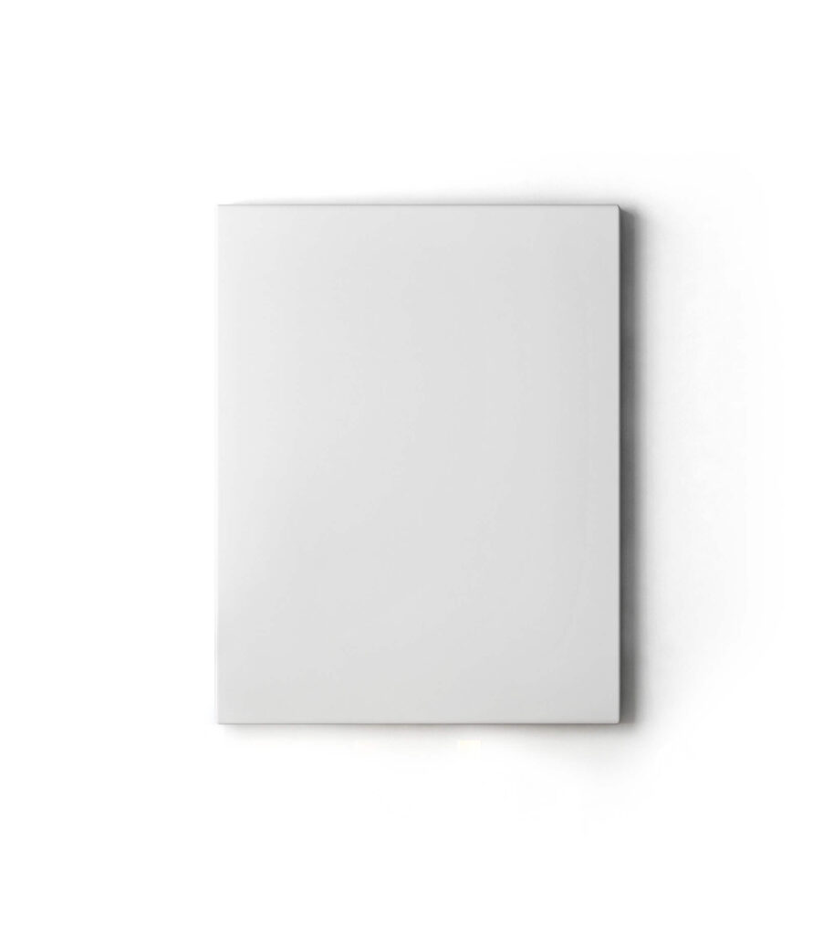 White Free Canvas Art Mockup PSD Template