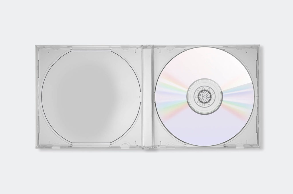 White Free Cd Booklet Mockup PSD Template