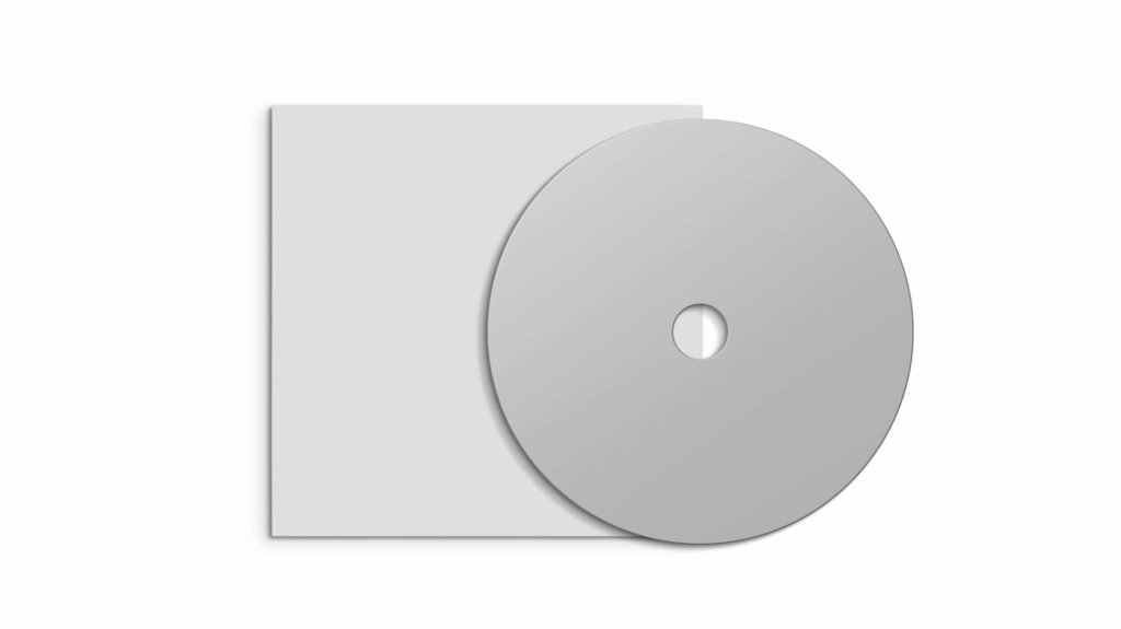 White Free Cd Case Mockup PSD Template