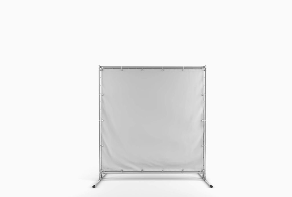 White Free Fabric Banner Mockup PSD Template 2