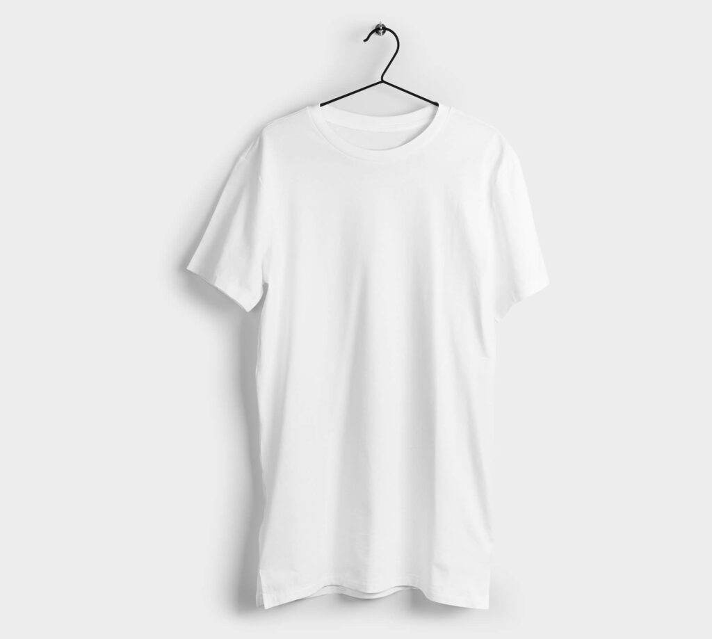 White Free Long Shirt Mockup PSD Template