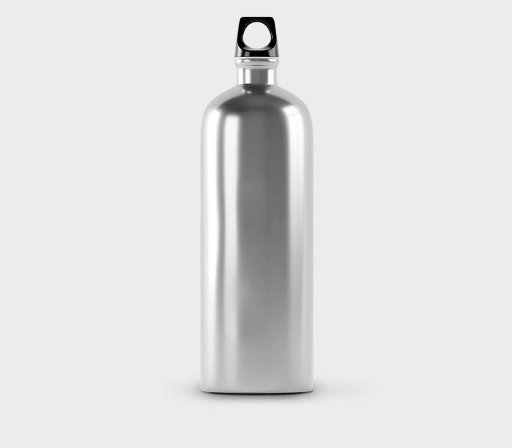 White Free Metal Bottle Mockup PSD Template