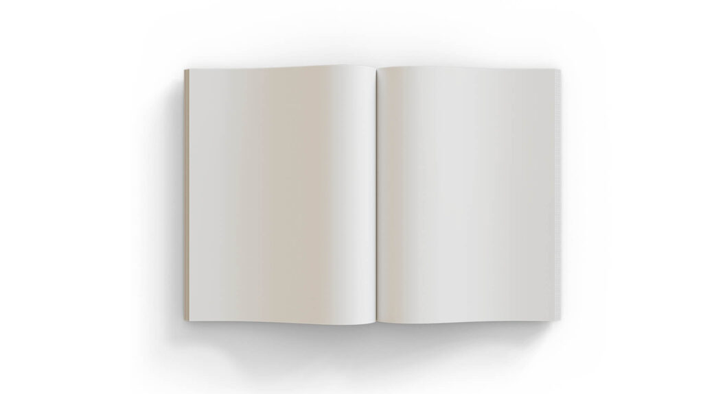 White Free Opened Book Mockup PSD Template