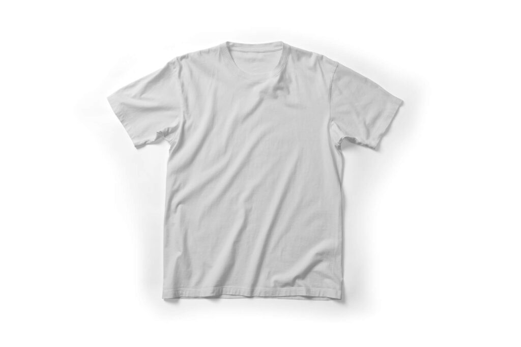 White Free Red T Shirt Mockup PSD Template