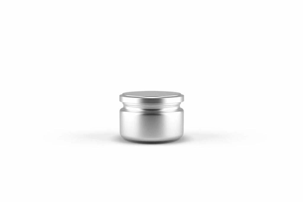 Blank White Free Small Jar Mockup PSD Template