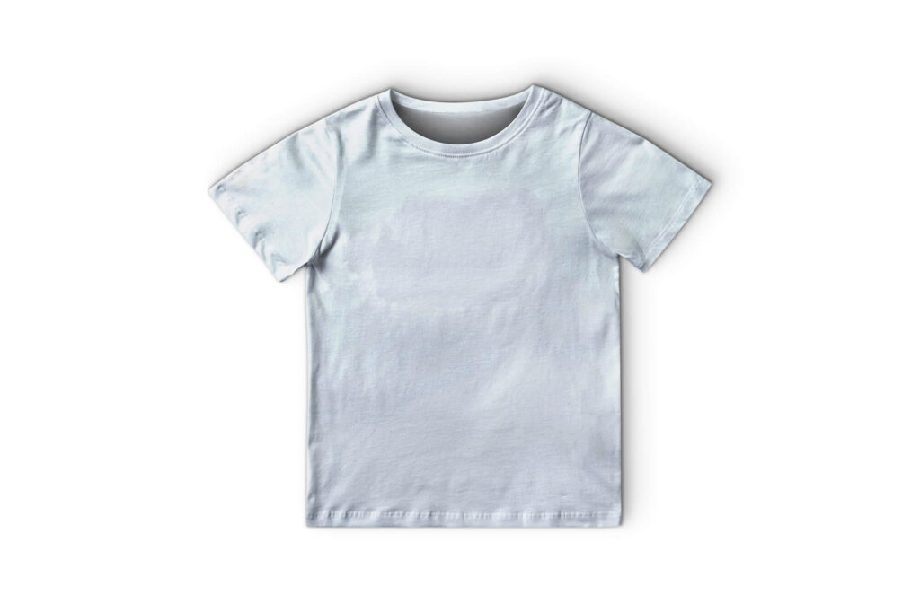 White Free T Shirt Kid Mockup PSD Template