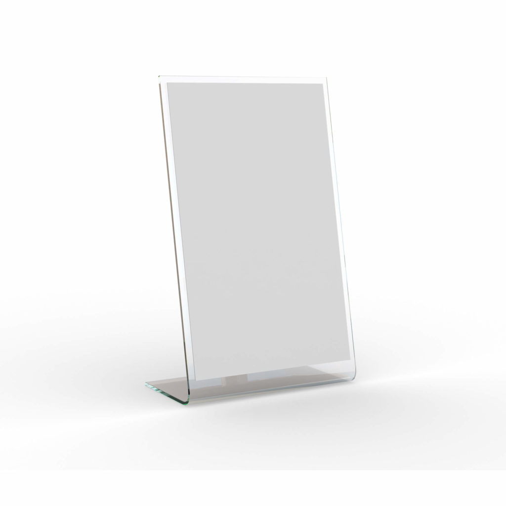 White Free Table Banner Mockup PSd Template
