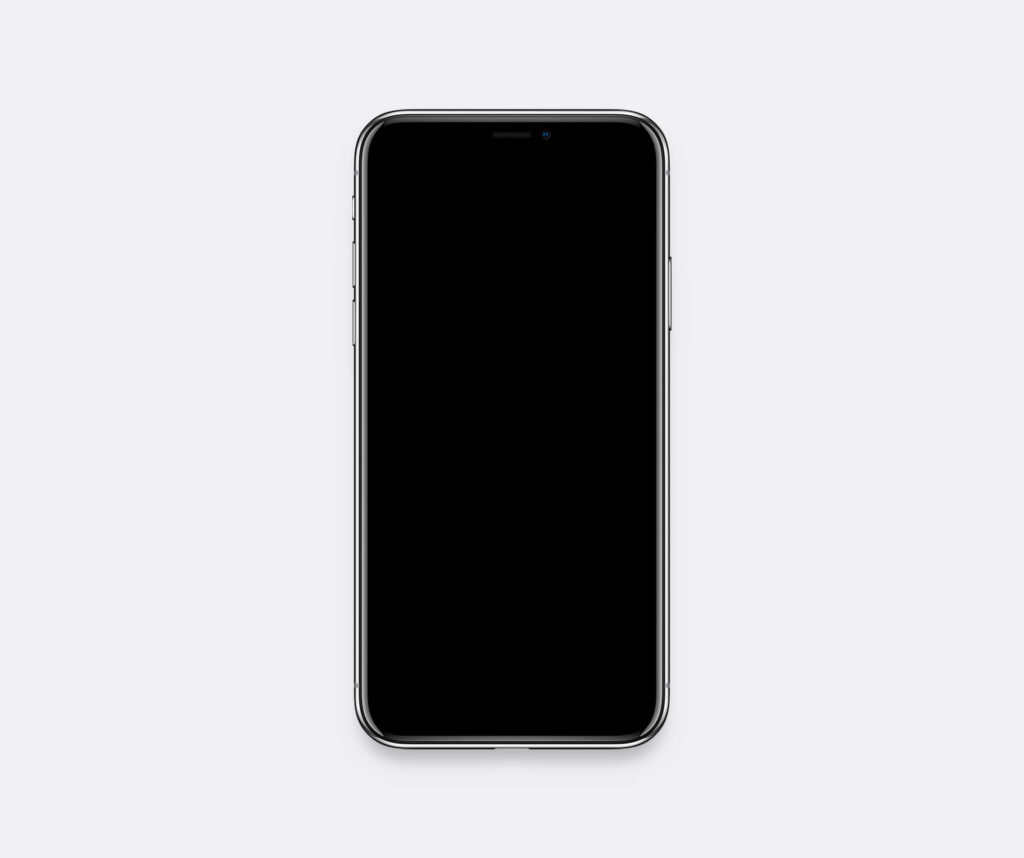 White Free iPhone X Mockup PSD Template