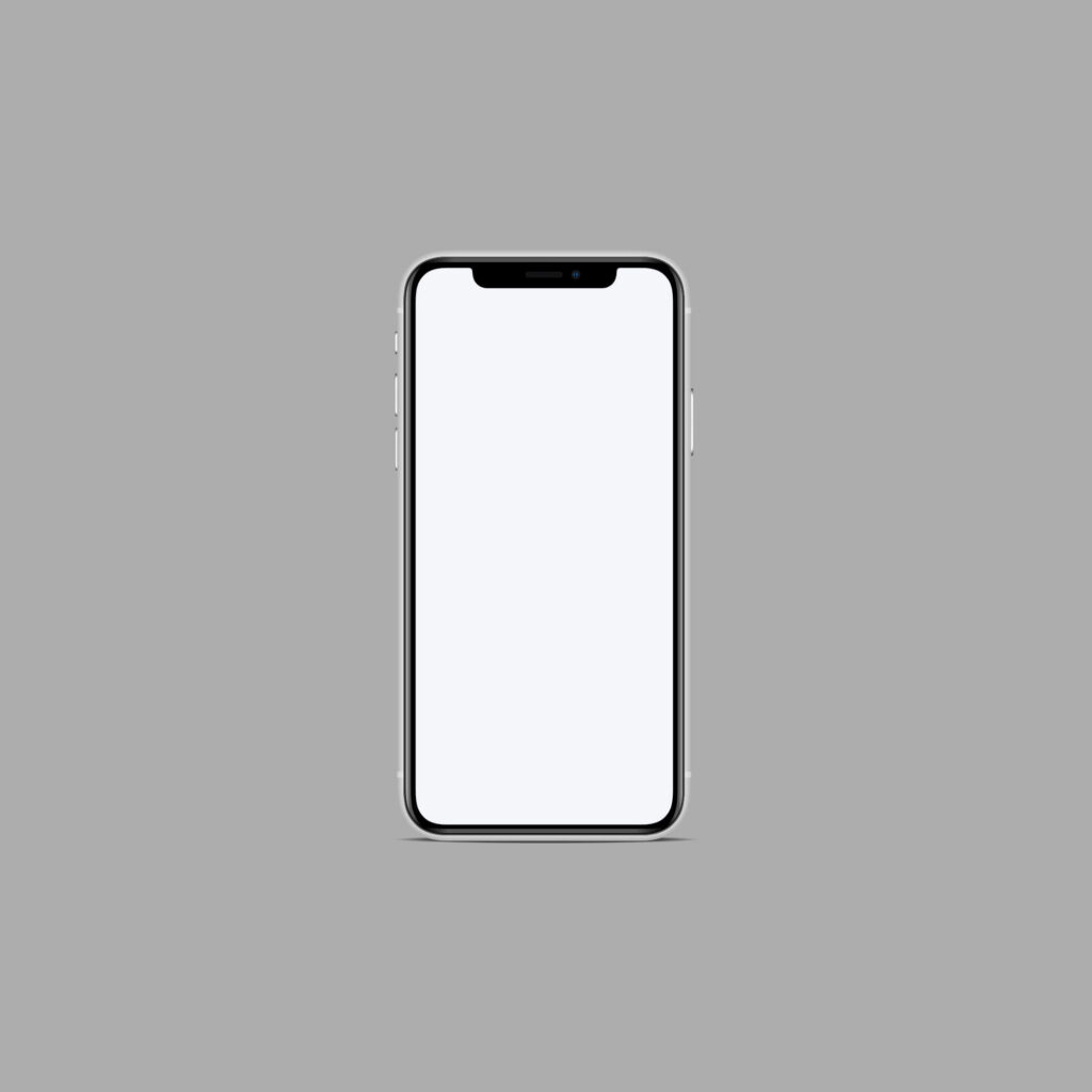 White Free iPhone11 Mockup PSD Template