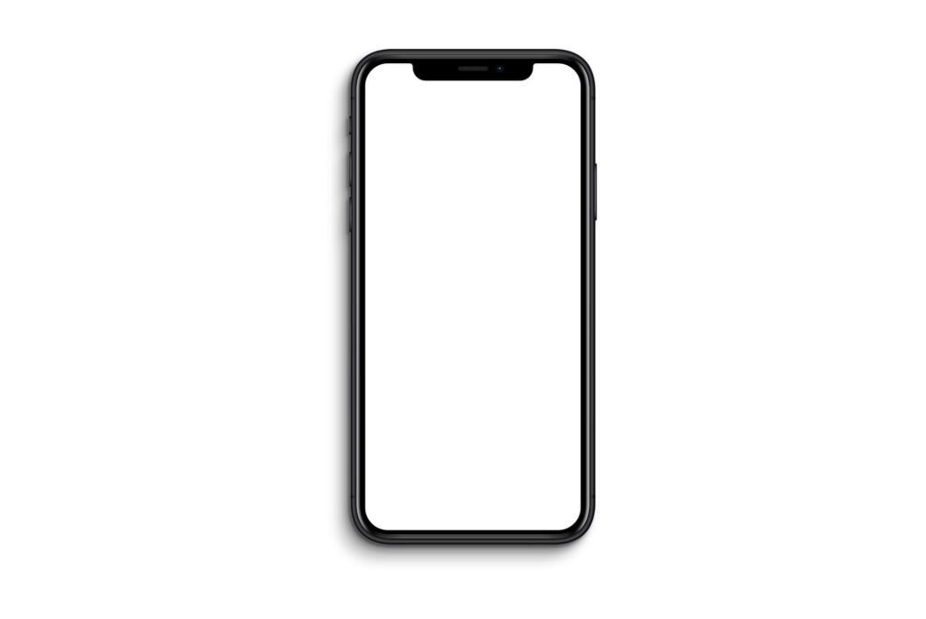 White Free iphone xr Mockup PSD Template