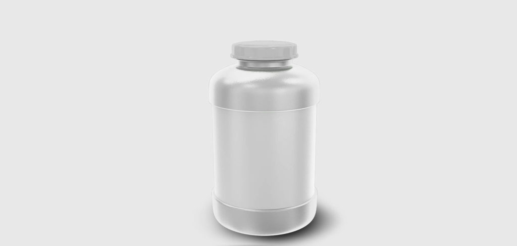 White Protein Jar Mockup Free PSD Template