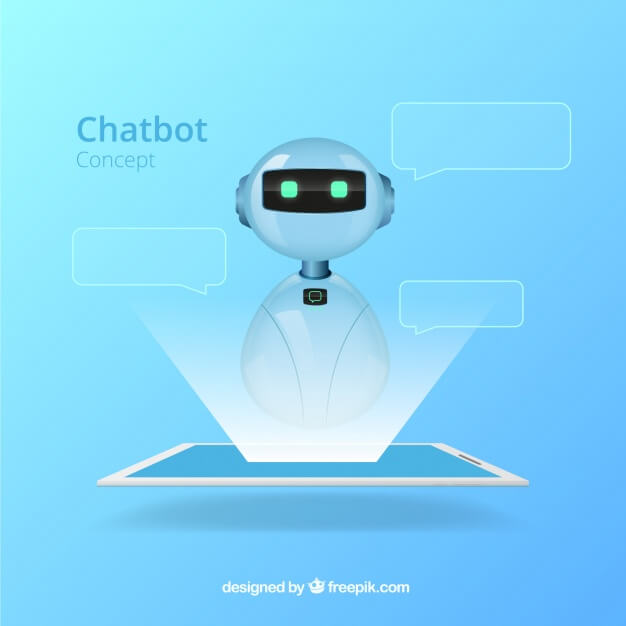 Chatbot concept background in realistic style Free Vector