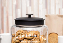 cookie jar mockup Psd Template