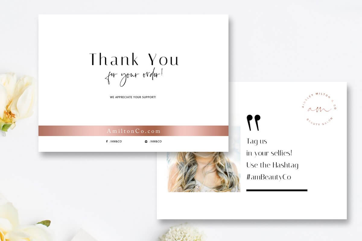 Beauty Thank You Card Template (1)