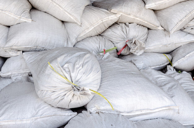 Big white sacks at large warehouse Premium Photo (1)