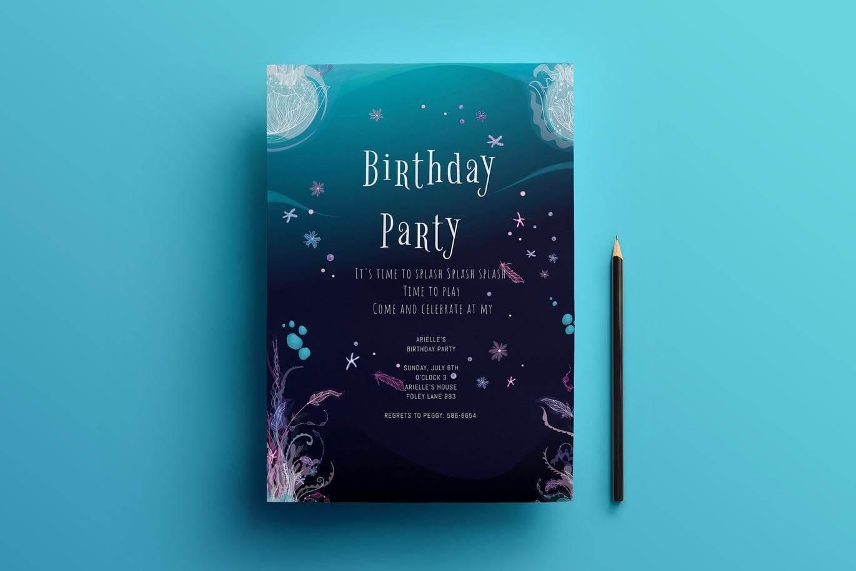 Birthday invitation card (1)