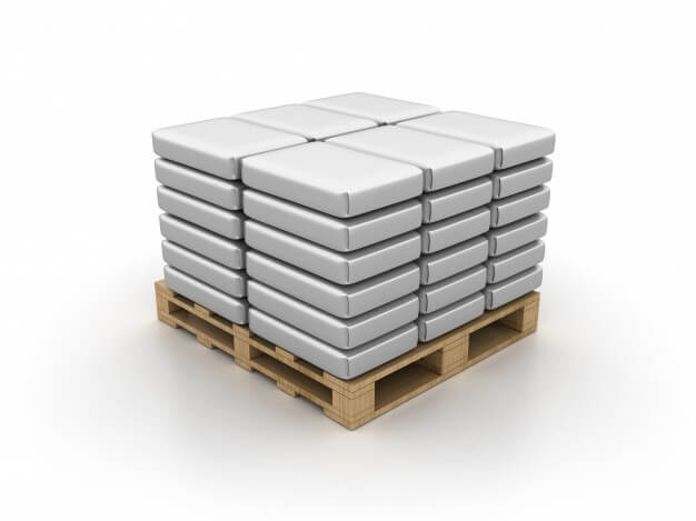Cement bags on pallet Premium Photo (1)