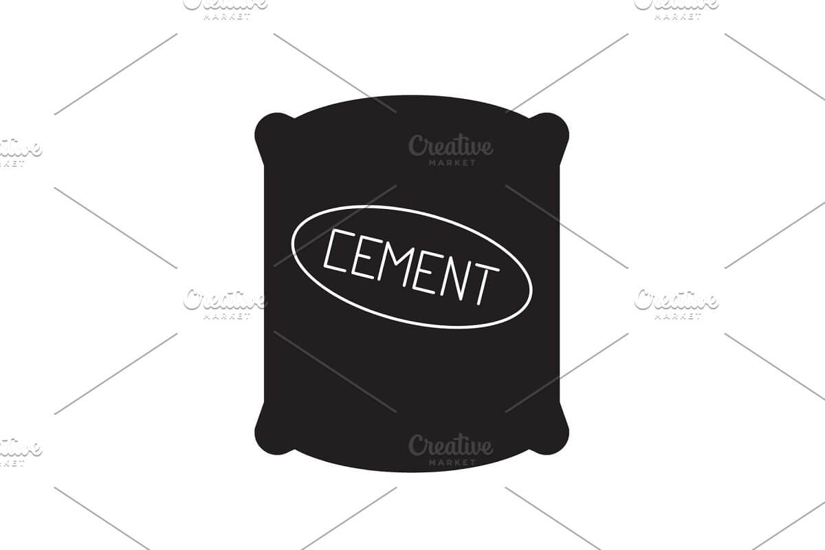 Cement sack black vector concept (1)